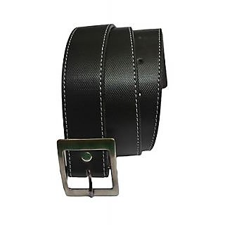Subtle Black Belt In A Classic Side Thread Seem Pattern (Blm-16-BLK)