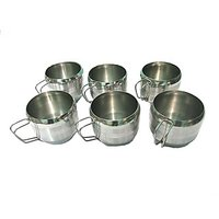 Set Of 6 Pcs. Stainless Steel Tea/Coffee Cups