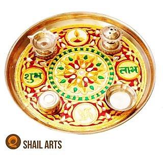 Meenakari pooja thali (9 inch)