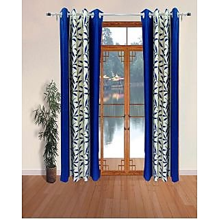 Home Passion Set of 2 Contemporary Blue  Door Curtain (7X4) Curtain(HPC010)