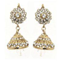 Kriaa Festive White Jhumki Earrings - 1300722