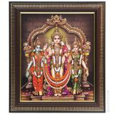 Lord Muruga With Family Photo Frame