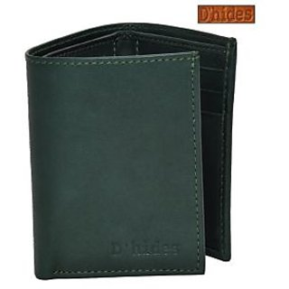 D'hides DGW-511 Green Leather Wallet