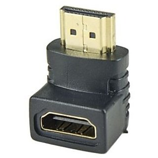 Gold Plated Right Angled 90 degrees L Shaped HDMI Female to HDMI Male Adapter