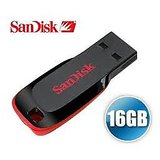 Pack Of 2 Sandisk 16GB Cruzer Blade Pen Drive