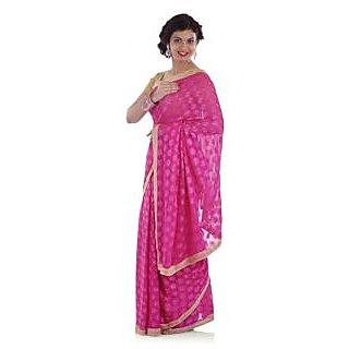 Bijou Pink Phulkari Saree