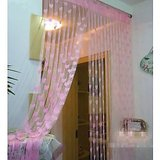 Dhamaka Set Of 2 Heart Curtains-light Pink