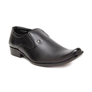 Foot 'n' Style Stylish Black Slip-on Shoes (fs166)