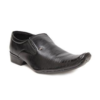 Foot 'n' Style Smart Black Slip-on Shoes (fs171)