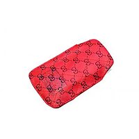 Anti Radiation Ladies Mobile Pouch Red Set Of 2