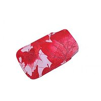 Anti Radiation Ladies Mobile Pouch Red With White Set Of 2