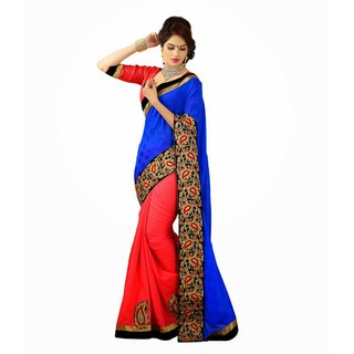 Ethnicbasket  Party Wear Jacquard  Kashmiri Silk Saree.