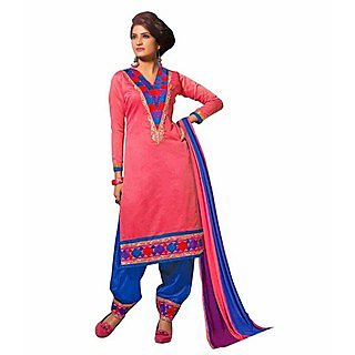 Ethnicbasket Party Wear Dusty Pink Salwar Kameez.