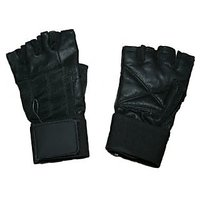 Leather Gym Gloves Along With Wrist Support..!!!