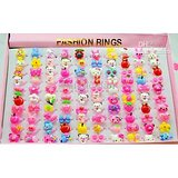 Set of 12 pc kids plastic cartoon finger Ring
