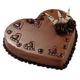 Heart Shaped 1 Kg. Chocolate Cake