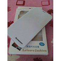Lenovo A850 Flip Flap Cover White Color