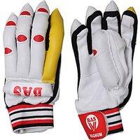 BAS Vampire Magnum (Men) Batting Gloves (L, White, Red)