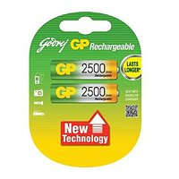 GODREJ GP AA 2500 MAH RECHARGEABLE BATTERIES