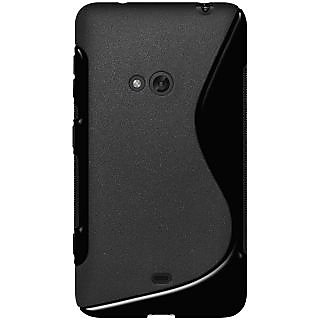 AMZER Back Cover for Nokia Lumia 625 - Solid Black (TPU Hybrid Case)