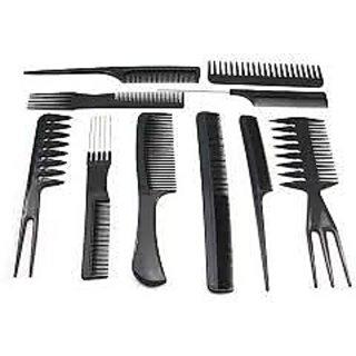 Set Of 10 Piece Professional Comb