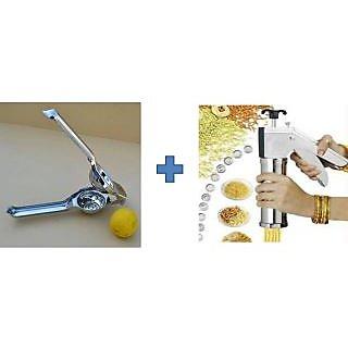 Buy Kitchen Press Bhujia Maker & Get Lemon Squeezer Free