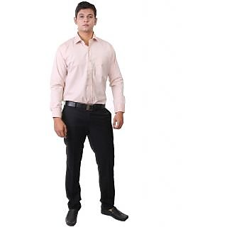 Real Value Brown Slim-Fit Full Sleeves Men's Formal Shirt