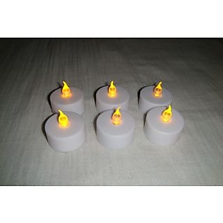 LED Candle Flameless Tea Light Flickering Candle Light Set Of 24 Led Diyas [CLONE]