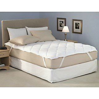 FMP00166_72  Quilted Mattress Protector with skirting (sapphire Collections )