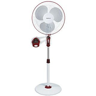 Havells 400Mm Sprint Led Pedestal Wine Red Fan