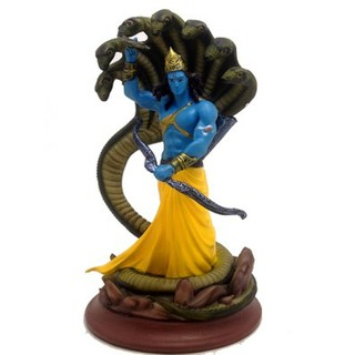 Lord Vishnu- Dashaavatar With Serpant Action Figurine
