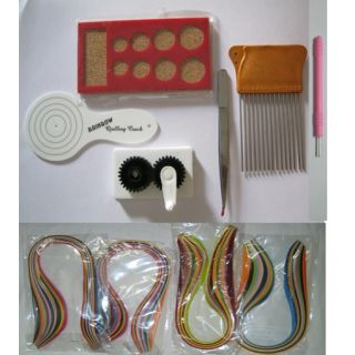 quilling kit 6 tools 357 mm multicolur strips available at shopclues for. Black Bedroom Furniture Sets. Home Design Ideas