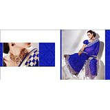Festiv Collection Faux Georgette Royal Blue Saree(saas2210)