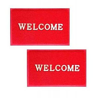 Red Welcome Mat Set Of 2
