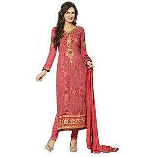 Kvsfab Pink Jacquard Embroidered Suit (1257 Ka-3)