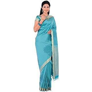 Women's Silk Saree Blue