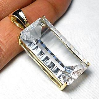 Crystal Hydro quartz gemstone Fashion Design Brass Pendant.ABSPY996C