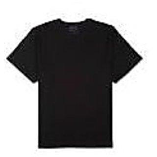 Men's Cotton Round Neck T-Shirt Black