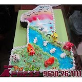 First Birthday Number Cake-Delhi NCR