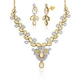 "Peora 18 Karat Gold Plated Kundan ""Amodini"" Necklace Earrings Set"