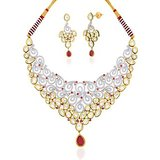 "Peora 18 Karat Gold Plated Kundan ""Aashiaana"" Necklace Earrings Set"