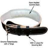 LEATHER WEIGHT LIFTING BELT ADJUSTABLE..!! PADDED BACK SUPPORT