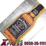Jack Daniels Whiskey Bottle Shape Cake-Delhi NCR
