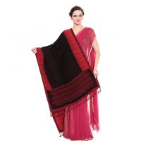 Kashmiri Black And Red Winter Shawl For Women