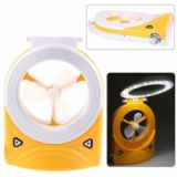 24+1 Led New Style Rechargeable Multi-purpose Fan Desk Lamp And Torch With Usb - Orange + White