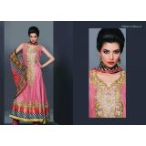 Embroidered Designer Suits -fariha Fab (pink)