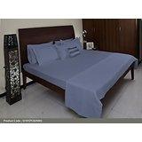 Light Blue Solid Dyed Bed Set - King