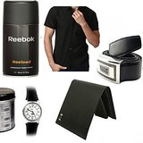 Reebok Deo + Reebok Watch + Wallet + Shirt + Belt
