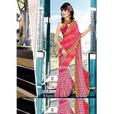 FAUX GEORGETTE SAREE IN DOUBLE SHADES              BL-631-B