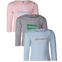 Goodway Infants Baby Girl Nick Name - 1 Combo Pack Of 3 T-Shirts 6-12 M